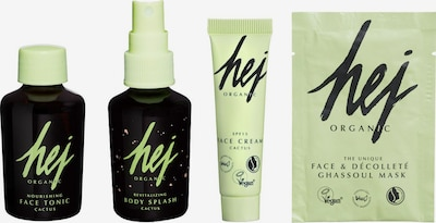 HEJ ORGANIC Pflege-Set 'Travel Kit Cactus' in apfel / schwarz, Produktansicht