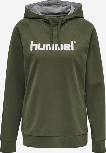 Hummel Sportsweatshirt in oliv / weiß, Produktansicht
