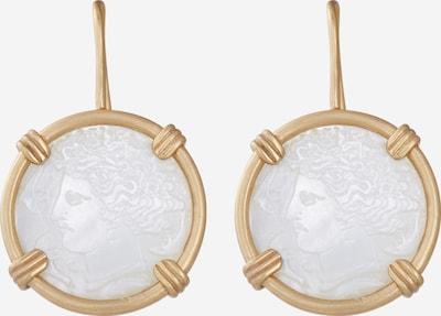 Cercei Vanessa Bruno pe auriu / alb, Vizualizare produs