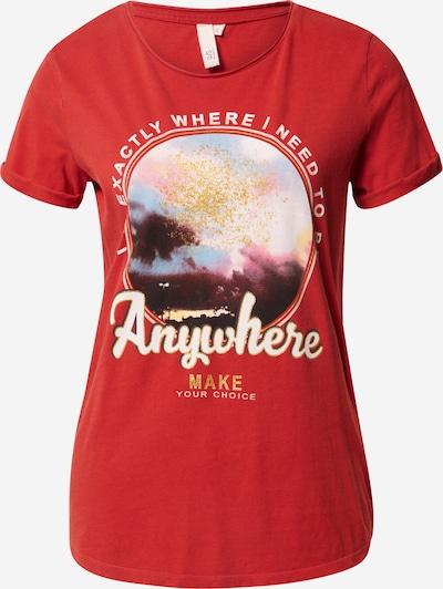 Q/S designed by Shirt in mischfarben / rot, Produktansicht