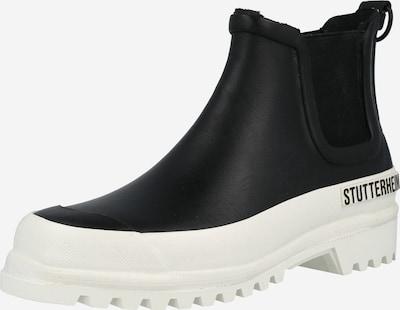 Stutterheim Gummistiefel 'Rainwalker' in schwarz / weiß, Produktansicht