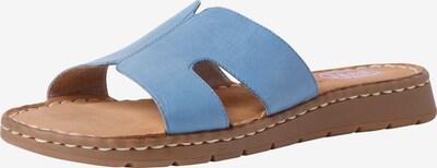 JANA Muiltjes in de kleur Blauw: Vooraanzicht