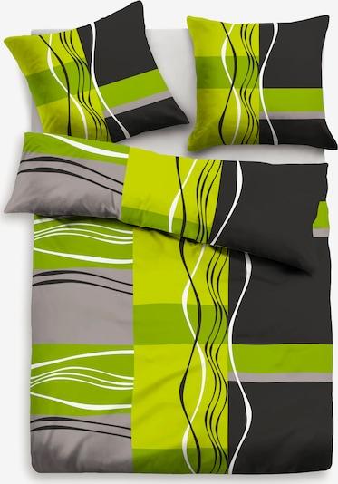 MY HOME my home Bettwäsche in grau / anthrazit / grün, Produktansicht
