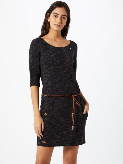 Ragwear Kleid 'Tanya' in karamell / hellgrau / schwarz, Modelansicht