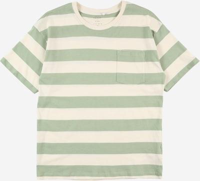 NAME IT T-shirt 'VUSTI' i pastellgrön / ullvit, Produktvy