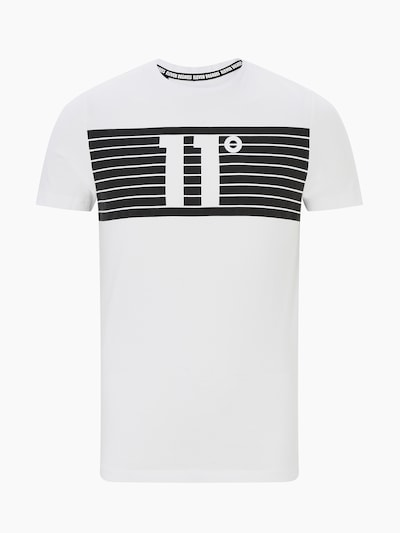 11 Degrees T-Shirt 'PLACEMENT STRIPE' en noir / blanc, Vue avec produit