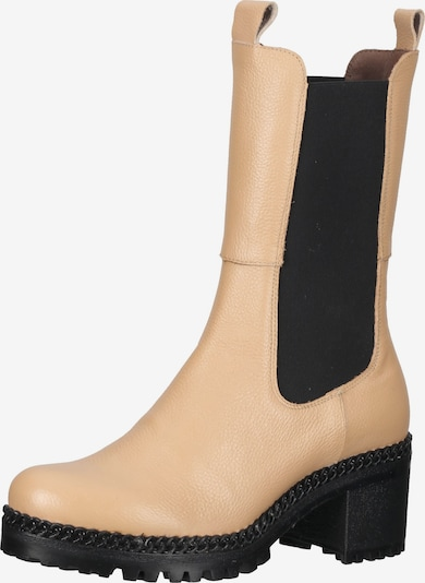 Wonders Chelsea Boots en beige / noir, Vue avec produit