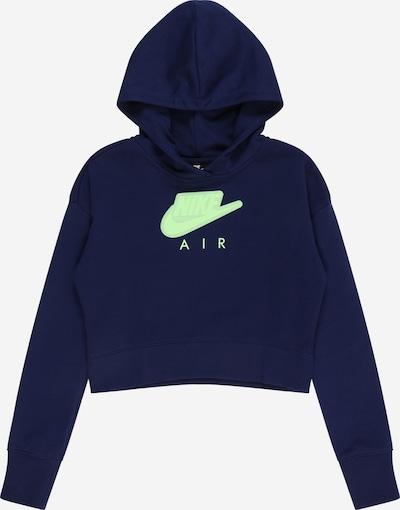 Nike Sportswear Sweatshirt 'Air' in dunkelblau / mint, Produktansicht