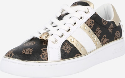 Sneaker low 'Bevlee' GUESS pe maro / maro închis / auriu / alb, Vizualizare produs