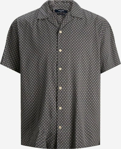 JACK & JONES Hemd in creme / grau, Produktansicht