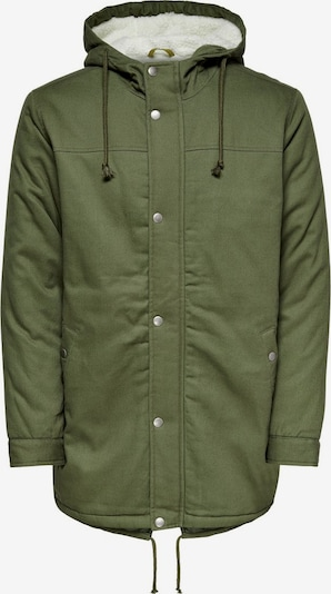Only & Sons Winterparka in oliv, Produktansicht
