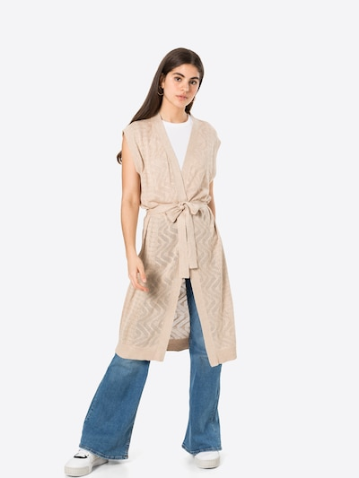 VILA Vest in Beige / Light beige, View model