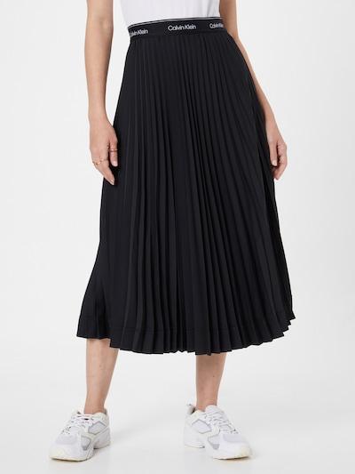 fekete Calvin Klein Szoknyák 'SUNRAY': Elölnézet