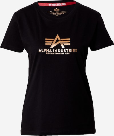 ALPHA INDUSTRIES Тениска в злато / черно, Преглед на продукта