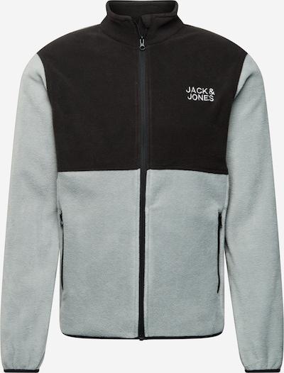 JACK & JONES Fleece jas in de kleur Pastelgroen / Zwart, Productweergave