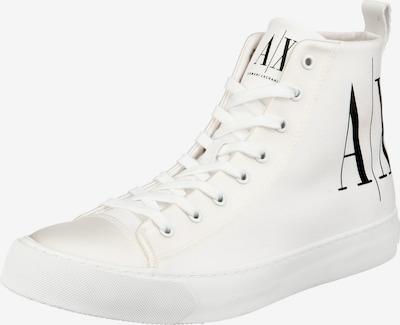 Sneaker înalt ARMANI EXCHANGE pe negru / alb, Vizualizare produs