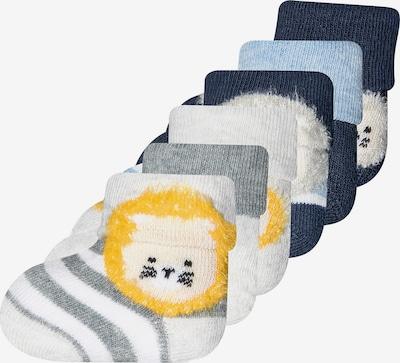 EWERS Socken 'Löwe' in hellblau / dunkelblau / gelb / grau / weiß, Produktansicht