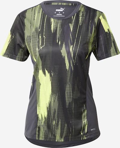 Triko iš PUMA, spalva – neoninė geltona / bazalto pilka / juoda, Prekių apžvalga