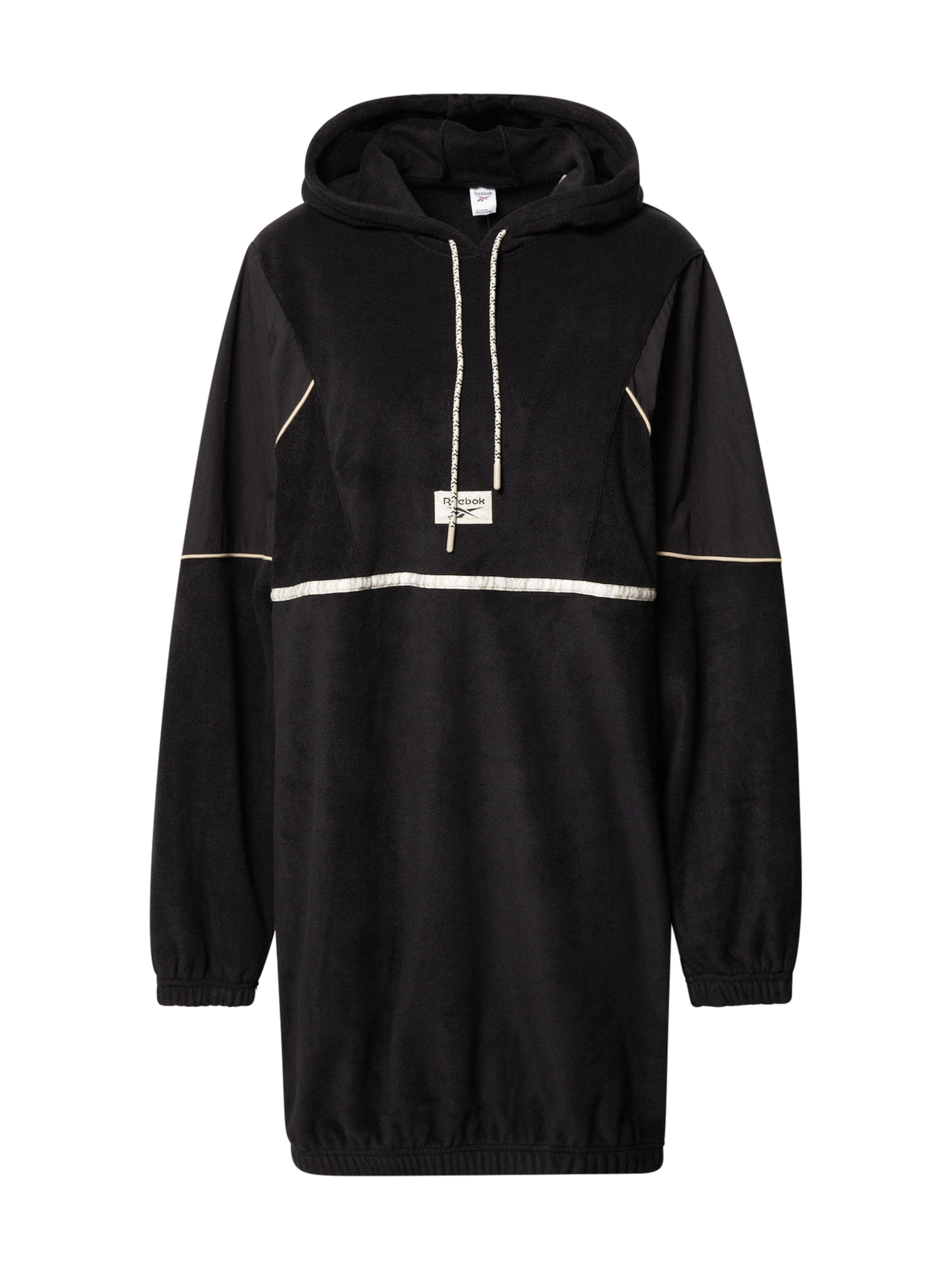 Reebok Classic Hoodie-Kleid in schwarz