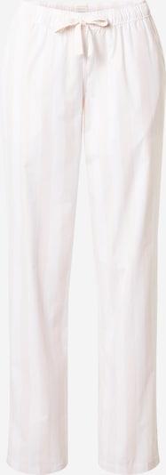 SCHIESSER Панталон пижама в бледорозово / бяло, Преглед на продукта