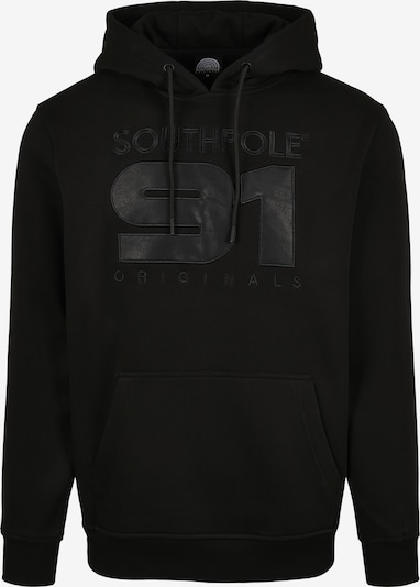 SOUTHPOLE Herren ' Southpole Hoody with PU application ' in schwarz, Produktansicht