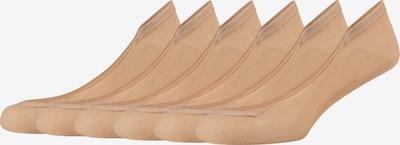 camano Füßlinge Sascha im 6er Pack in beige, Produktansicht