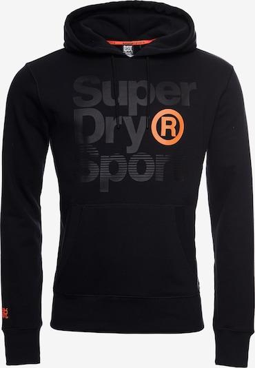 Superdry Sportsweatshirt 'Core Sport' in de kleur Grijs gemêleerd / Sinaasappel / Zwart, Productweergave