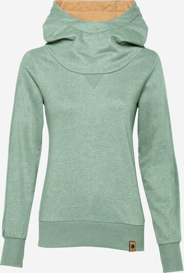 Fli Papigu Sweat-shirt 'Cute but Psycho' en vert chiné, Vue avec produit