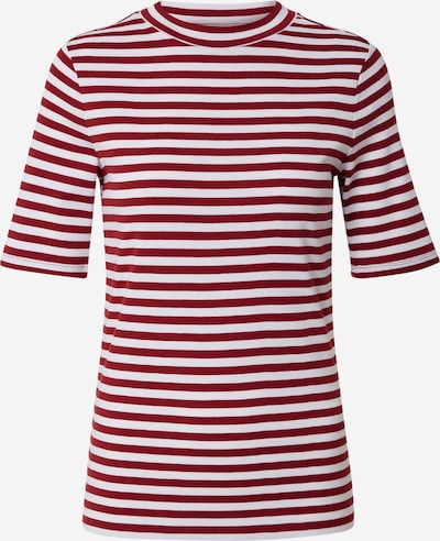 Tricou EDC BY ESPRIT pe roşu închis / alb, Vizualizare produs