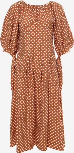 Madam-T Jurk 'ANTONELLA' in de kleur Sinaasappel, Productweergave