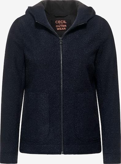 CECIL Outdoor Jacke in Woll Optik in blau, Produktansicht
