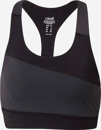 Casall Biustonosz sportowy w kolorze szary / czarnym, Podgląd produktu