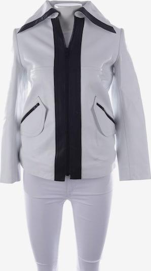Carven Lederjacke  in XS in schwarz / weiß, Produktansicht