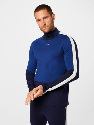 ICEBREAKER Sportshirt in blau / navy / weiß: Frontalansicht