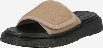 NA-KD Pantoletter 'Velcro' i beige