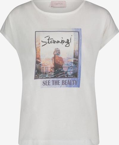 Cartoon Printshirt mit Aufdruck in naturweiß, Produktansicht