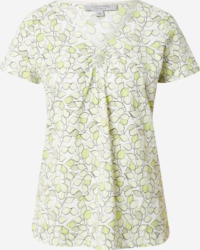 Ci comma casual identity T-shirt en jaune / vert clair / blanc, Vue avec produit
