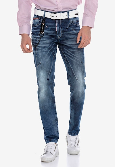 CIPO & BAXX Jeanshose in dunkelblau, Modelansicht