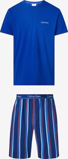 Calvin Klein Underwear Pyjama court en bleu roi / rouge / blanc, Vue avec produit