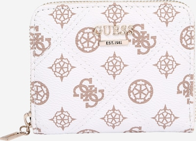 GUESS Cartera 'CESSILY' en marrón / blanco, Vista del producto