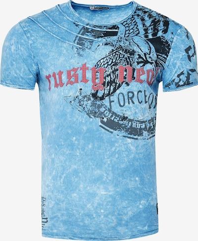 Rusty Neal Shirt in de kleur Blauw, Productweergave