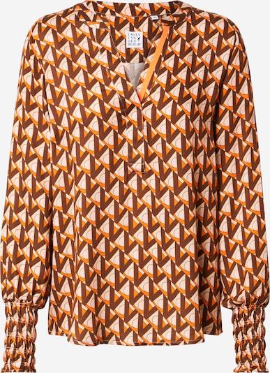 Emily Van Den Bergh Blusa en beige / marrón / naranja, Vista del producto