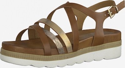 MARCO TOZZI Sandale in cognac / gold / platin, Produktansicht
