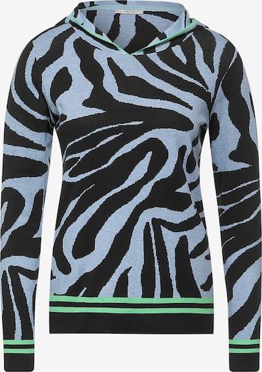 CECIL Pullover in blau / neongrün / schwarz, Produktansicht