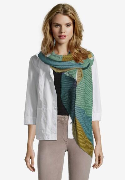 Betty Barclay Basic-Schal mit Plissee in dunkelblau / grün, Produktansicht