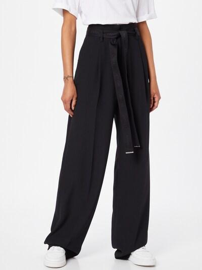 HUGO Pleat-front trousers 'Hasou' in Black, View model