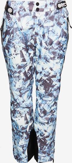 Superdry Pantalon outdoor 'Luxe' en bleu-gris / bleu clair / noir, Vue avec produit