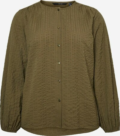 Vero Moda Curve Knopf Bluse in khaki, Produktansicht