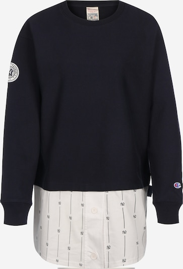 Champion Authentic Athletic Apparel Sweatshirt in kobaltblau / weiß: Frontalansicht