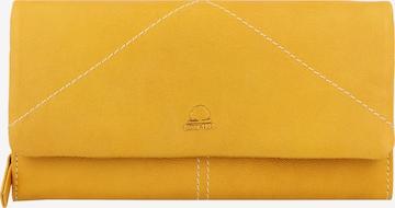 GREENBURRY Geldbörse 'Tumble Nappa' in Gelb